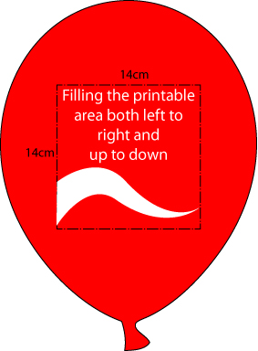 Size of Printable Area On Balloon